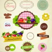 Link toFresh food labels design vector 03