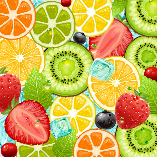 summer fruits backgrounds vector 04 free download