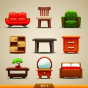 Link toVector furniture icons set 01