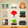 Vector Furniture Icons set 03
