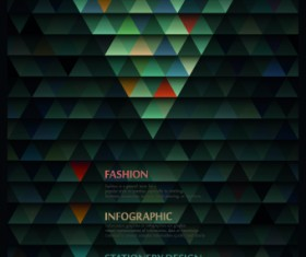 Geometric shapes Dark backgrounds vector 01
