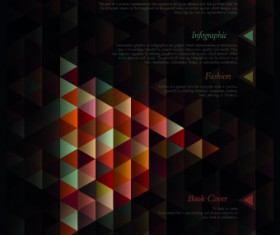 Geometric shapes Dark backgrounds vector 02