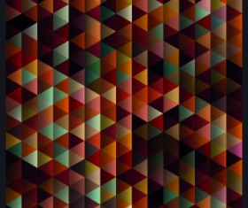 Geometric shapes Dark backgrounds vector 05