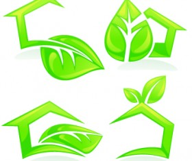 Creative Green Leaf logos vector 01