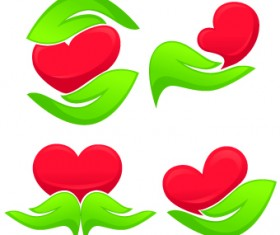 Creative Green Leaf logos vector 02