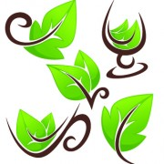 Link toCreative green leaf logos vector 03