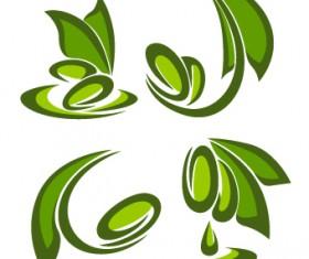 Creative Green Leaf logos vector 04