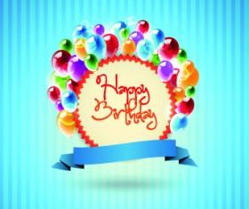 Happy Birthday card vector set 02