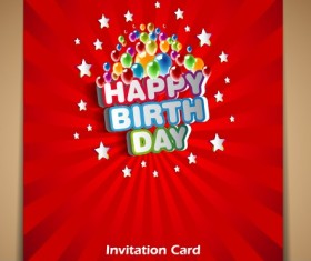 Happy Birthday card vector set 03