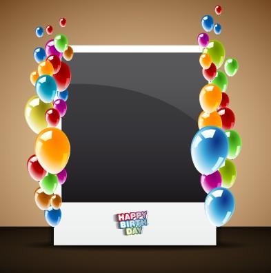 Happy Birthday Card Vector Set 04