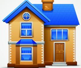 Different Houses design elements vector 02