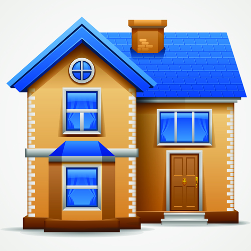 Different houses design elements vector 02 vector other for Different interior designs of houses
