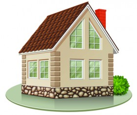 Different Houses design elements vector 04