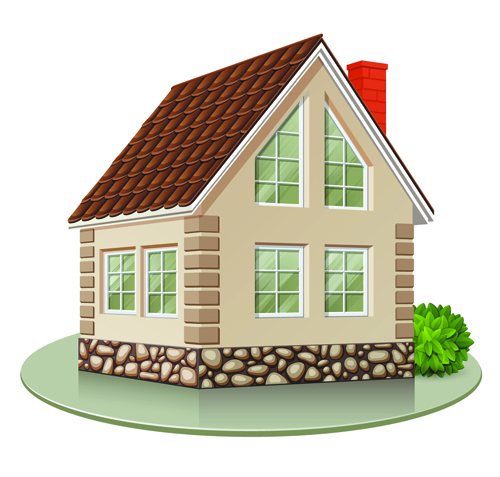 Different Houses Design Elements Vector 04 Free Download