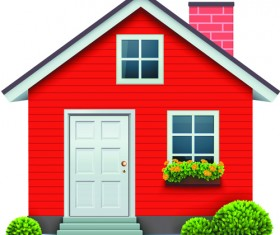 Different Houses design elements vector 05