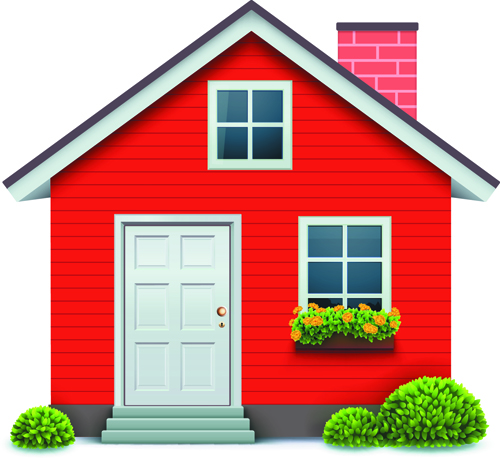 Different Houses Design Elements Vector 05 Free Download