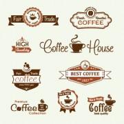 Link toModern coffee label vector set 03