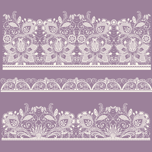 White Lace elements vector 03 - Vector Frames & Borders free download