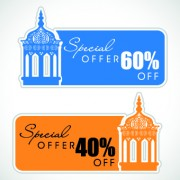 Link toMuslim style discount tag vector 04