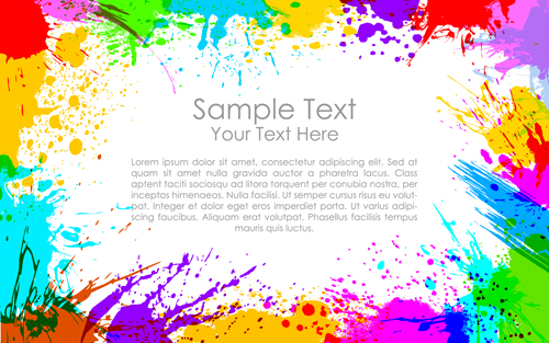 Happy holi Paints backgrounds 04 - Vector Background free download