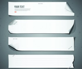 Different Paper Banners vector 01