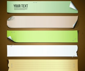 Different Paper Banners vector 02