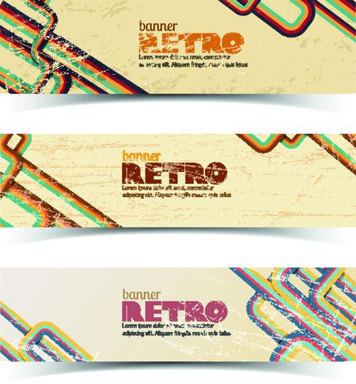 Retro Garbage Business banner vector 01