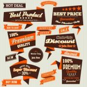 Link toRetro premium quality labels design set 04