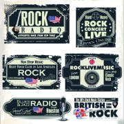 Link toRetro rock music and jazz labels vector 06