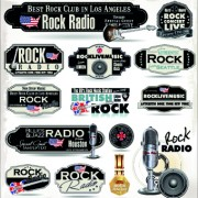 Link toRetro rock music and jazz labels vector 10