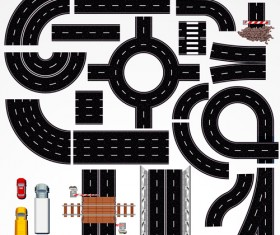 Creative Road design elements vector 01