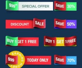 Different Sale discount labels vector 04