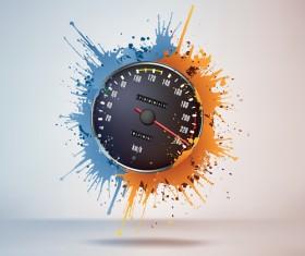 Speedometer design element vector 01