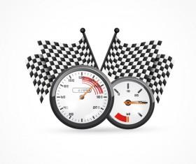 Speedometer design element vector 02