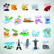 Link toStylish travel logos vector