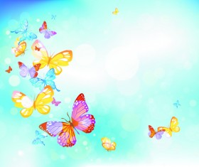 Summer blue sky backgrounds vector 02