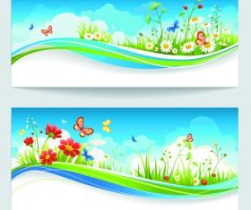 Summer blue sky backgrounds vector 03