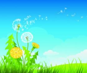 Summer blue sky backgrounds vector 04
