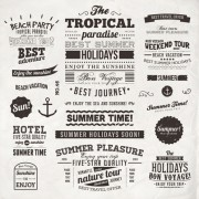 Link toSummer holidays label ornaments and logos vector 04