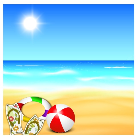 Beautiful Summer Beach Background 01 – Over Millions Vectors