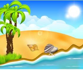 Beautiful Summer beach background 02