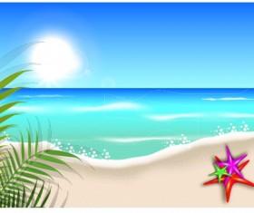 Beautiful Summer beach background 04