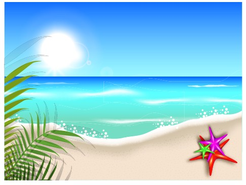Beautiful Summer Beach Background 04 Free Download