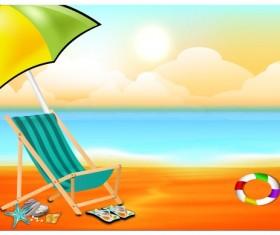 Beautiful Summer beach background 05