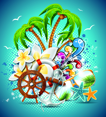 Summer Holiday Flyer Template Vector   Vector Cover Free Download