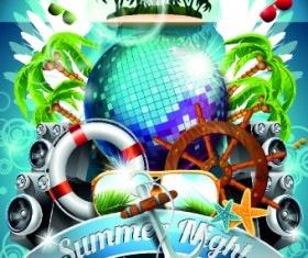 Summer holiday flyer template vector 04
