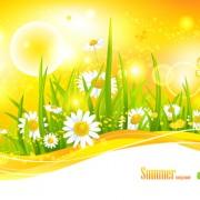 Link toBeautiful summer landscapes design vector 01
