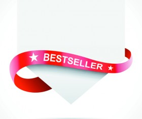 Sale Tags with red Ribbon vector 02