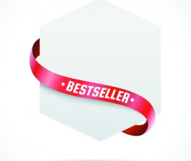 Sale Tags with red Ribbon vector 05