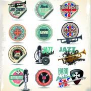 Link toVintage music sticker vector 02